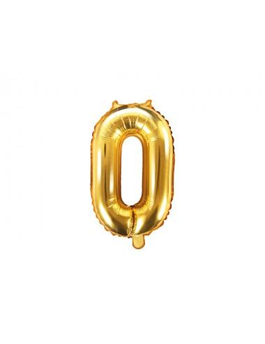 Folieballon cijfer goud