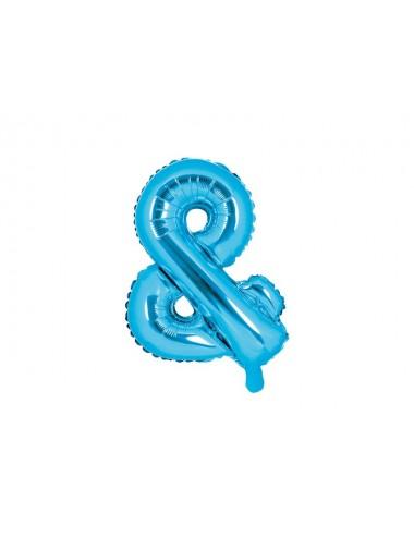 "Folieballon blauw ""&"""